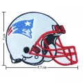 New England Patriots Helmet Style-1 Embroidered Iron On/Sew On Patch
