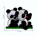 Panda Bear Style-2 Embroidered Sew On Patch