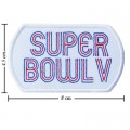 Super Bowl V 1970 Style-5 Embroidered Sew On Patch