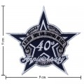 Dallas Cowboys Anniversary Style-1 Embroidered Iron On/Sew On Patch