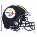 Pittsburgh Steelers Helmet Style-1 Embroidered Iron On/Sew On Patch