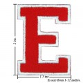 Alphabet E Style-2 Embroidered Sew On Patch
