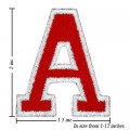 Alphabet A Style-2 Embroidered Sew On Patch