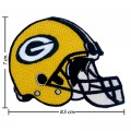 Green Bay Packers Helmet Style-1 Embroidered Iron On/Sew On Patch
