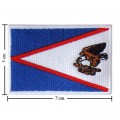 American Samoa Nation Flag Style-1 Embroidered Sew On Patch