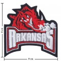 Arkansas Razorbacks Style-1 Embroidered Iron On/Sew On Patch