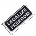 Legalize Freedom Style-2 Embroidered Sew On Patch