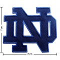 Notre Dame Fighting Irish Style-1 Embroidered Iron On/Sew On Patch