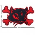 Cat On Crossbones Sign Style-1 Embroidered Sew On Patch
