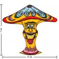Colorful Magic Mushroom Sign Style-12 Embroidered Sew On Patch