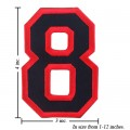 Number 8 Style 1 Embroidered Sew On Patch