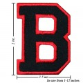 Alphabet B Style-1 Embroidered Sew On Patch