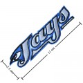 Toronto Blue Jays Style-1 Embroidered Iron On/Sew On Patch