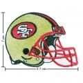San Francisco 49ers Helmet Style-1 Embroidered Iron On/Sew On Patch