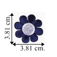 Colored Daisy Style-4 Embroidered Sew On Patch