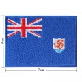 Anguilla Nation Flag Style-1 Embroidered Sew On Patch