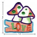 Colorful Magic Mushroom Sign Style-4 Embroidered Sew On Patch