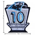 Carolina Panthers Anniversary Style-1 Embroidered Iron On/Sew On Patch