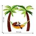 Palm Tree Style-4 Embroidered Sew On Patch