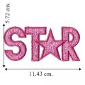 Sparkle Star Style-2 Embroidered Sew On Patch