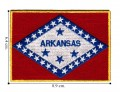 Arkansas State Flag Embroidered Sew On Patch