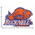 Buck Nell Bison Embroidered Iron On/Sew On Patch