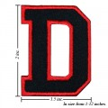 Alphabet D Style-1 Embroidered Sew On Patch