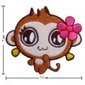 Cartoon CiCi Monkey Embroidered Sew On Patch
