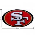 San Francisco 49ers Style-1 Embroidered Iron On/Sew On Patch
