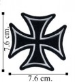 Iron Cross Embroidered Sew On Patch