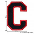Alphabet C Style-1 Embroidered Sew On Patch