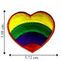 Rainbow Heart Embroidered Sew On Patch