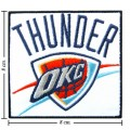 Oklahoma City Thunder Style-1 Embroidered Sew On Patch