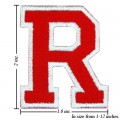 Alphabet R Style-2 Embroidered Sew On Patch