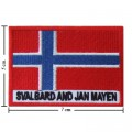 Svalbard And Janmayen Nation Flag Style-2 Embroidered Sew On Patch