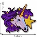 Unicorn in Stars Embroidered Sew On Patch