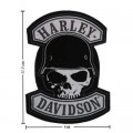 Harley Davidson Spike Patches Embroidered Sew On Patch