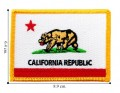 California State Flag Embroidered Sew On Patch