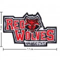Arkansas State Red Wolves Style-1 Embroidered Iron On/Sew On Patch