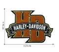 Harley Davidson Chenille H-D Monogram Embroidered Sew On Patch