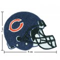Chicago Bears Helmet Style-1 Embroidered Iron On/Sew On Patch