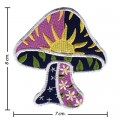 Colorful Magic Mushroom Sign Style-6 Embroidered Sew On Patch