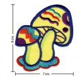 Colorful Magic Mushroom Sign Style-7 Embroidered Sew On Patch