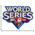 World Series 2009 Embroidered Iron On/Sew On Patch