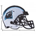 Carolina Panthers Helmet Style-1 Embroidered Iron On/Sew On Patch