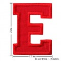 Alphabet E Style-3 Embroidered Sew On Patch