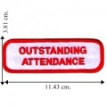Outstanding Attendance Embroidered Sew On Patch