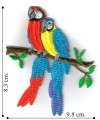 Macaw Style-2 Embroidered Sew On Patch