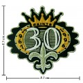 New Orleans Saints Anniversary Style-1 Embroidered Iron On/Sew On Patch