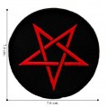 Red Pentagram Style-1 Embroidered Sew On Patch